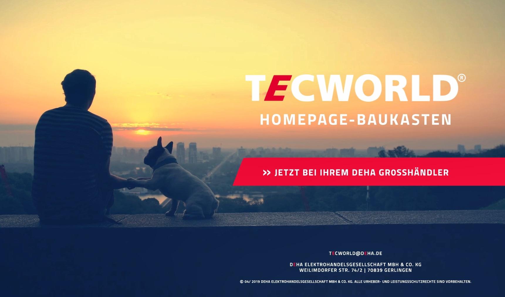 Tecworld Homepage Baukasten